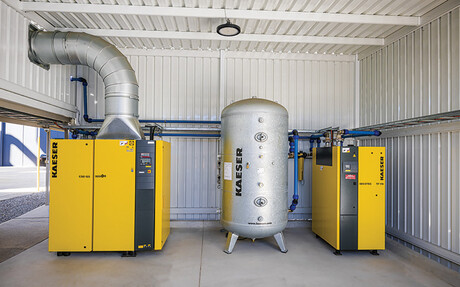 The new compressed air system at Hume Doors in Sydney