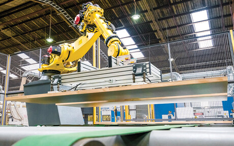 Compressed air powers a number of axis robots at Hume Doors