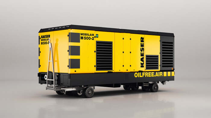 Mobilair M500-2 dry running diesel driven portable screw compressor