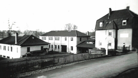 Kaeser Kompressoren in the early days, Hahnweg Germany