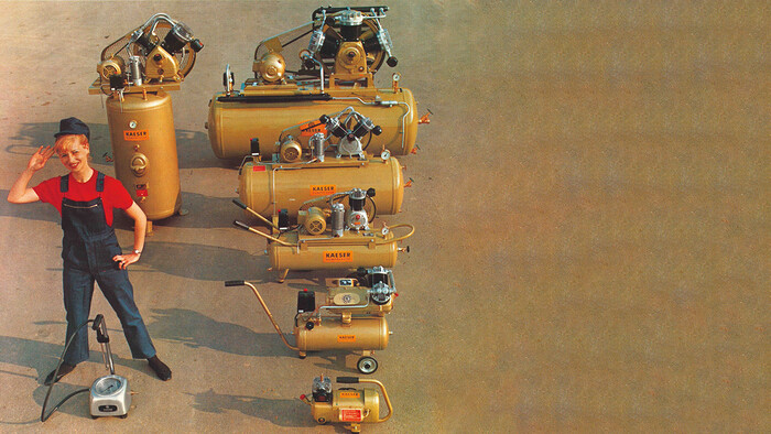 Some of the original reciprocating compressor range from Kaeser