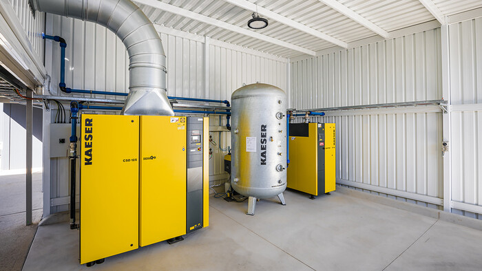 Kaeser compressed air system at Hume Doors