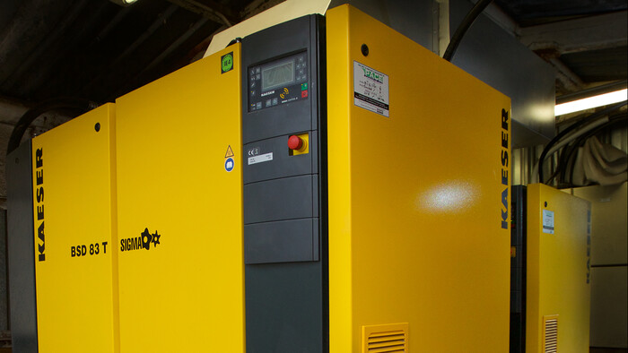 Kaeser BSD rotary screw compressor at Katere Coatings