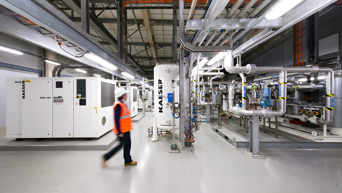 Kaeser frequency controlled rotary screw compressors at Victorian Desalination Plant
