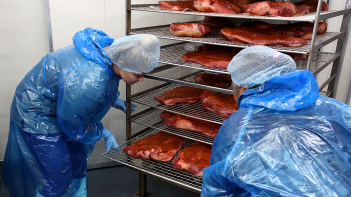 Meat at Texas BBQ Foods ready for smoking
